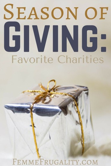 A few of my favorite charities, along with their overhead costs.