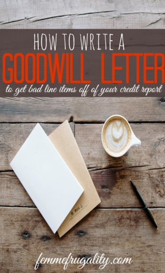 I never knew you could do this! Get bad line items removed from your credit report with a goodwill letter. This article includes a template and everything.