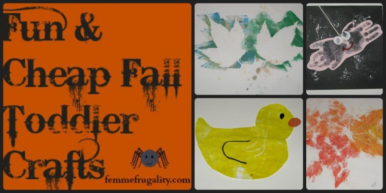 Fun and Cheap Fall Toddler Crafts