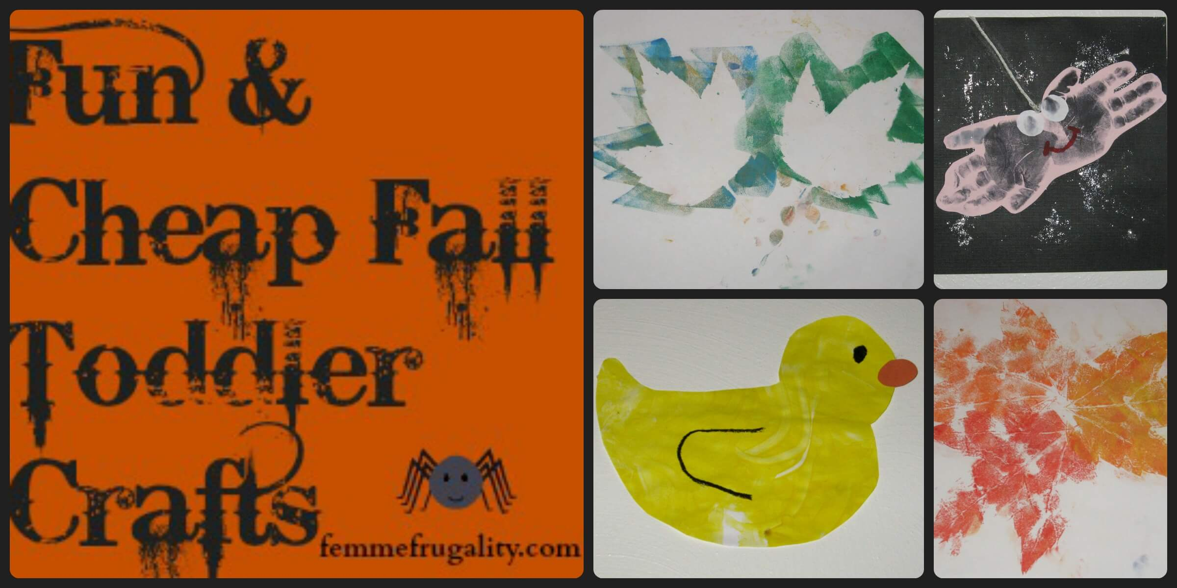 Fun Cheap Fall Toddler Crafts Femme Frugality