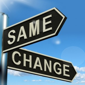 same change