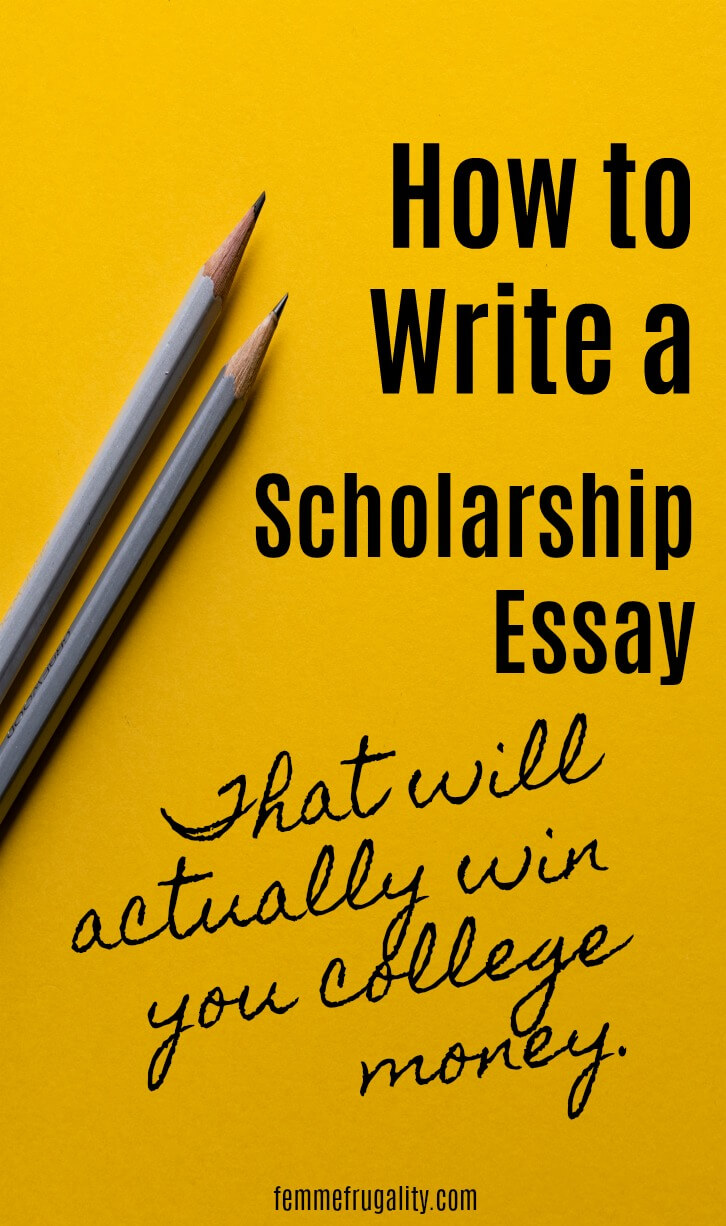 These are great tips for writing a successful scholarship essay. I'm liking her track record, too.