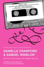mix tape wedding invitation