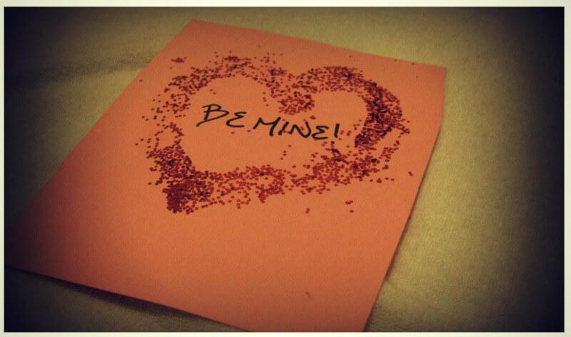 Glitter heart valentine
