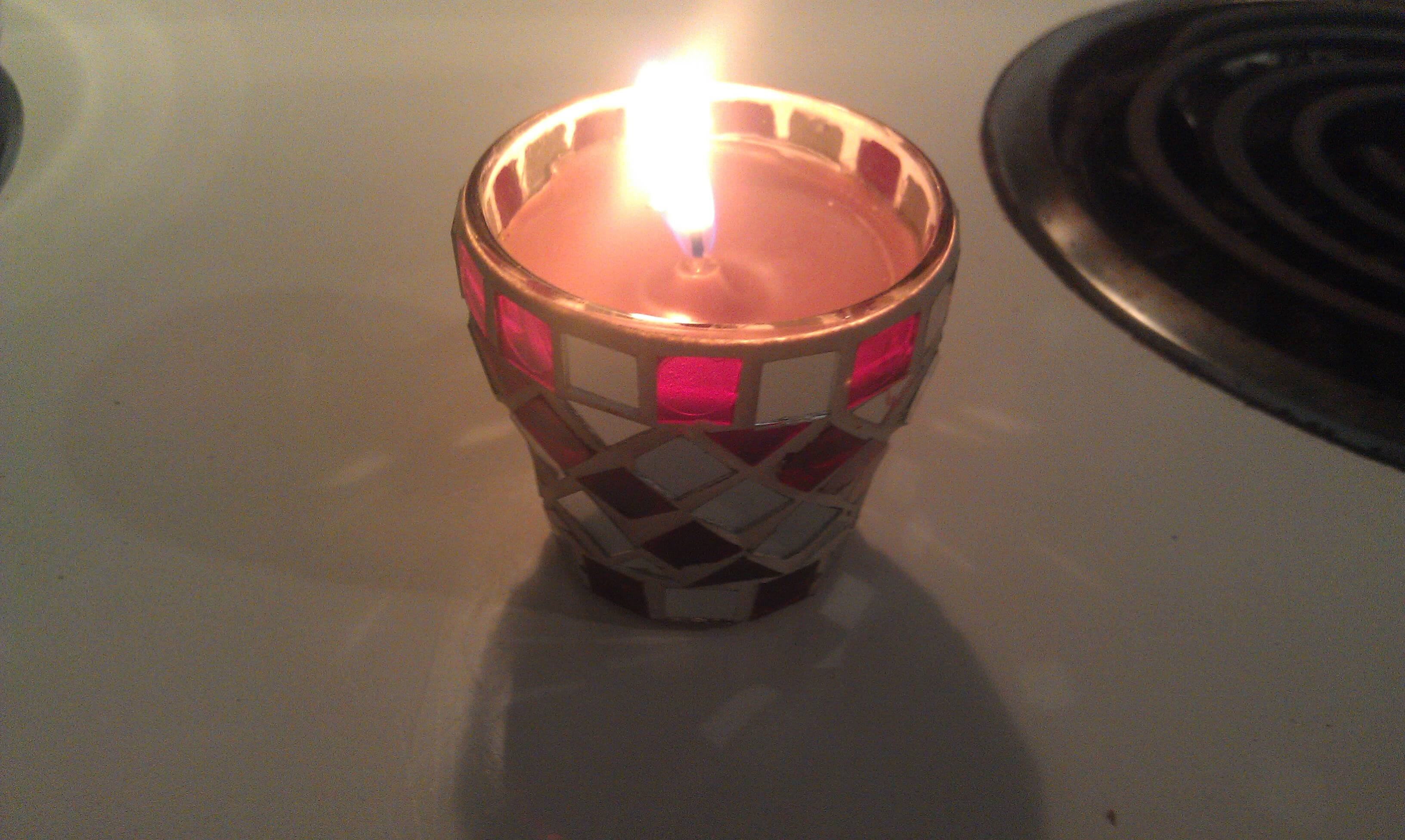 homemade candle