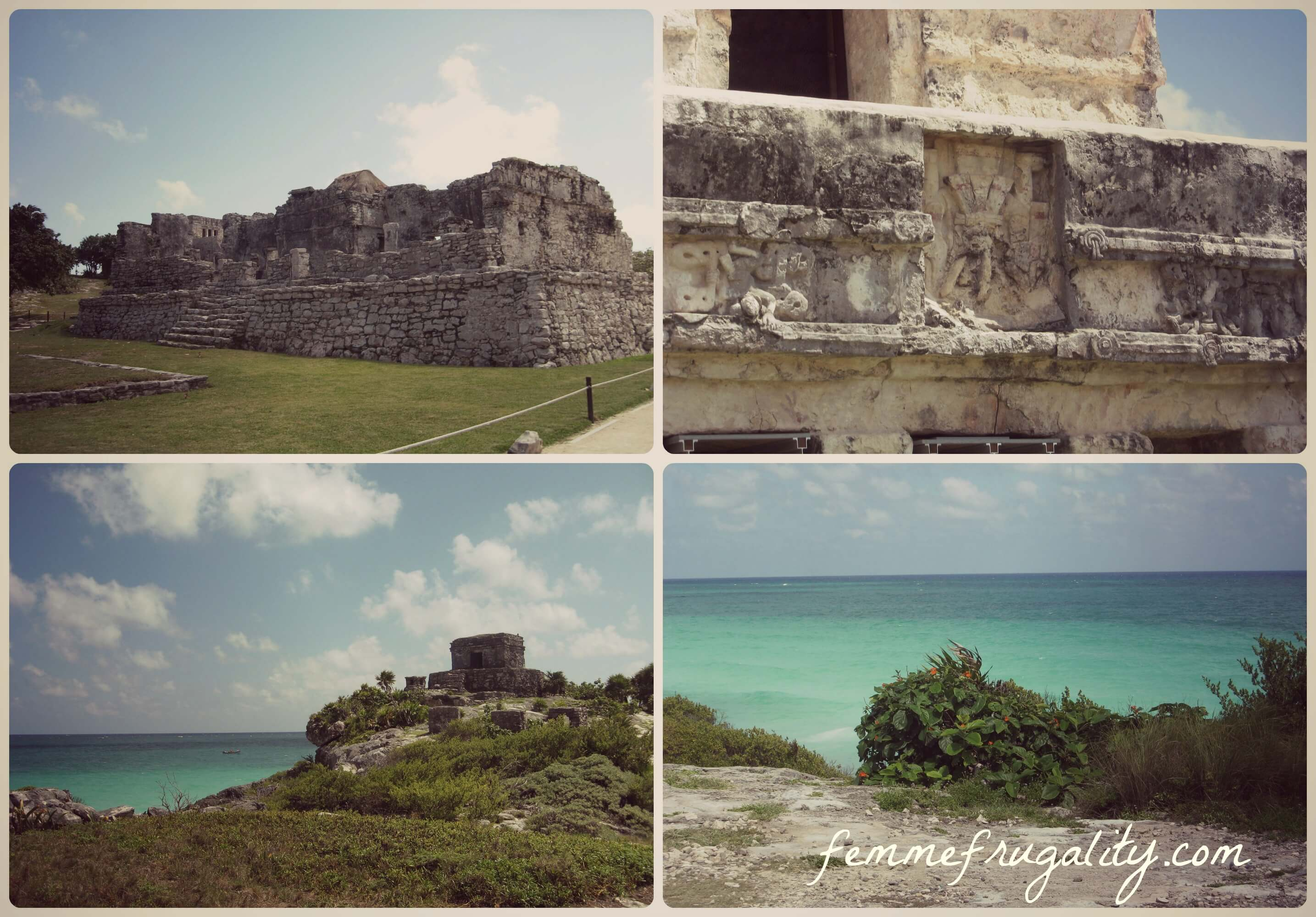 The seaside ruins in Tulum, Mexico