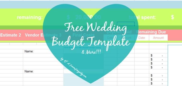 free wedding budget template