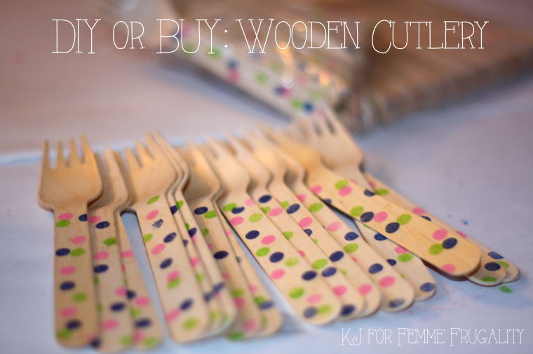 Wooden Cutlery with Dots
