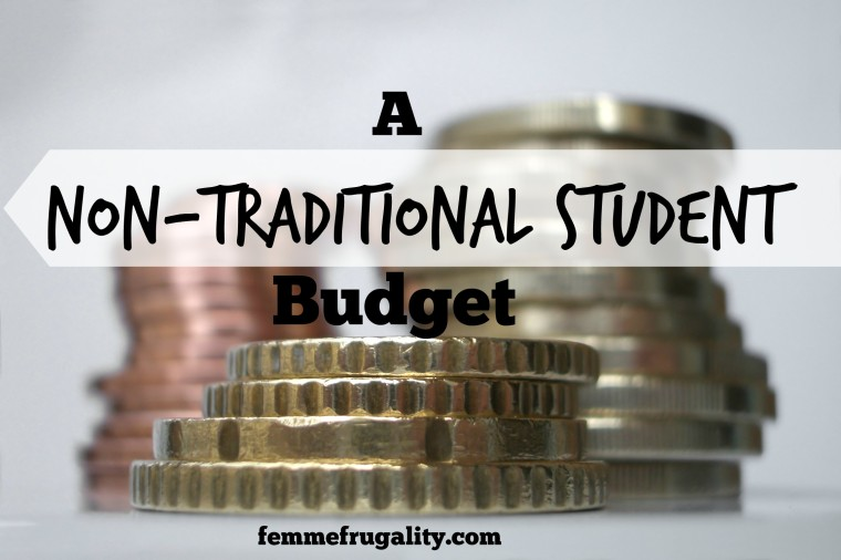 non-traditional student budget