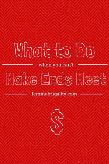 can't make ends meet