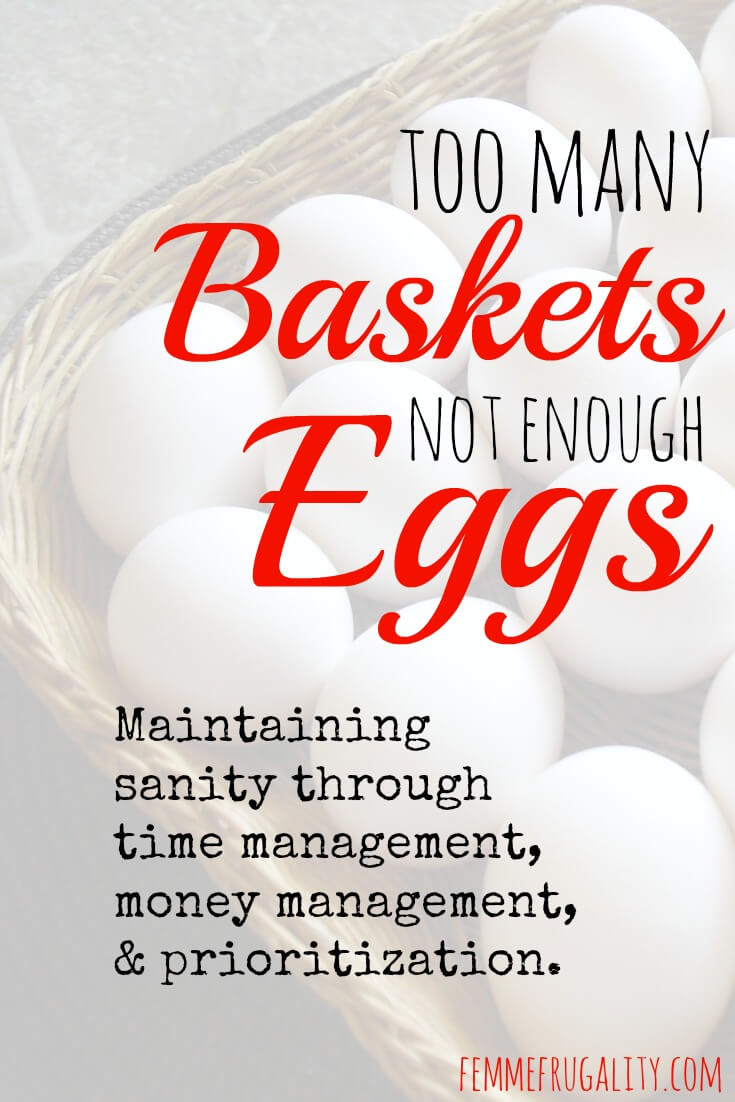 Maintaining sanity through time management, money management, and prioritization.