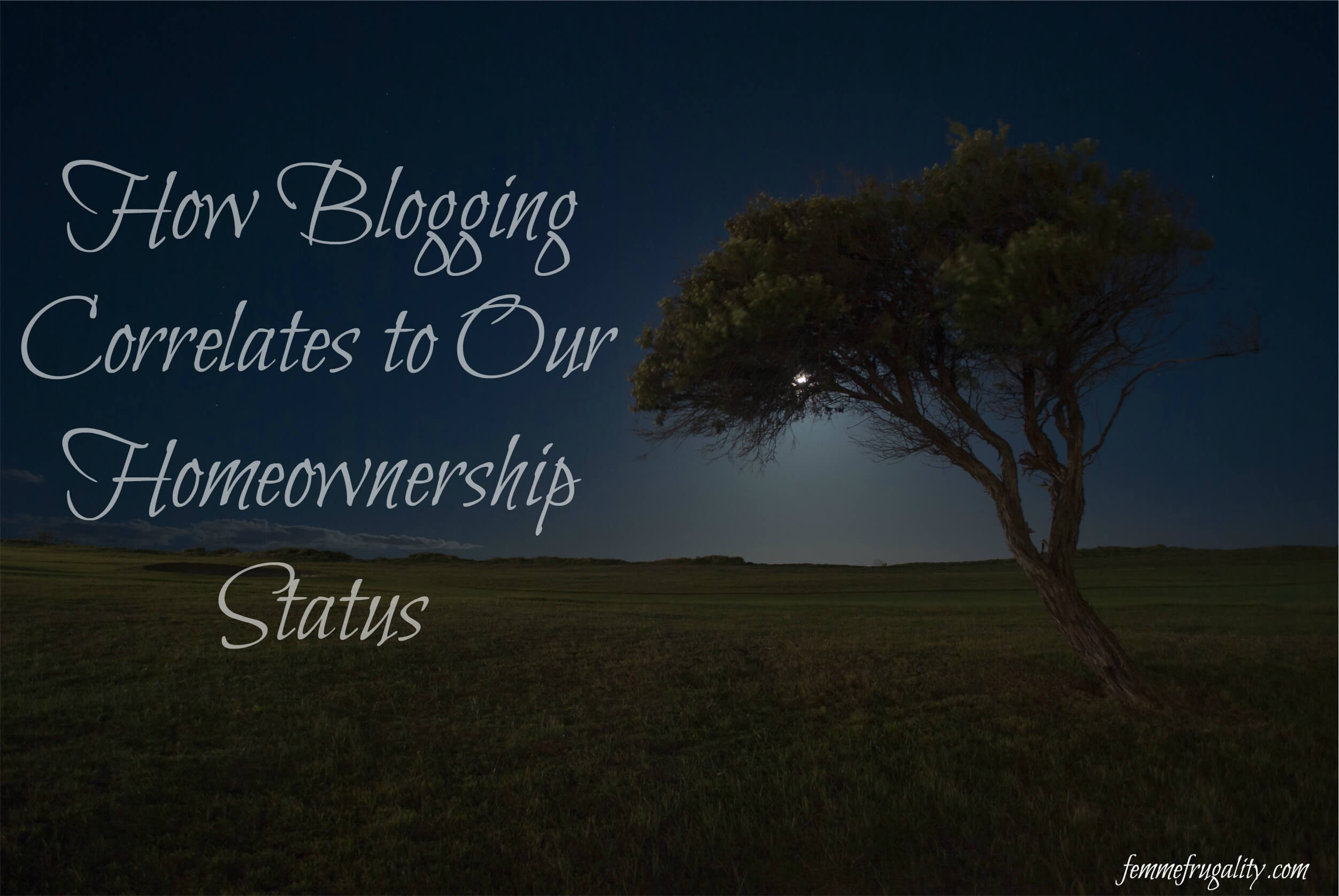 How does blogging relate to owning our own home? Come check it out, along with our most recent progress.