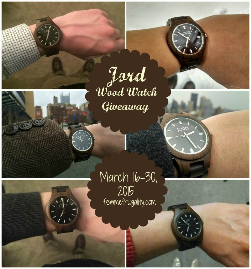 Enter to win your own classy, wooden watch.  March 16-30, 2015.