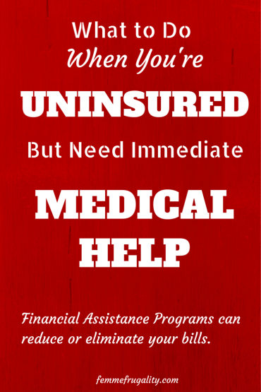 Uninsured and have outstanding medical bills?  Financial Assistance Programs from your nonprofit hospital or medical system may be available to reduce or eliminate your bills.