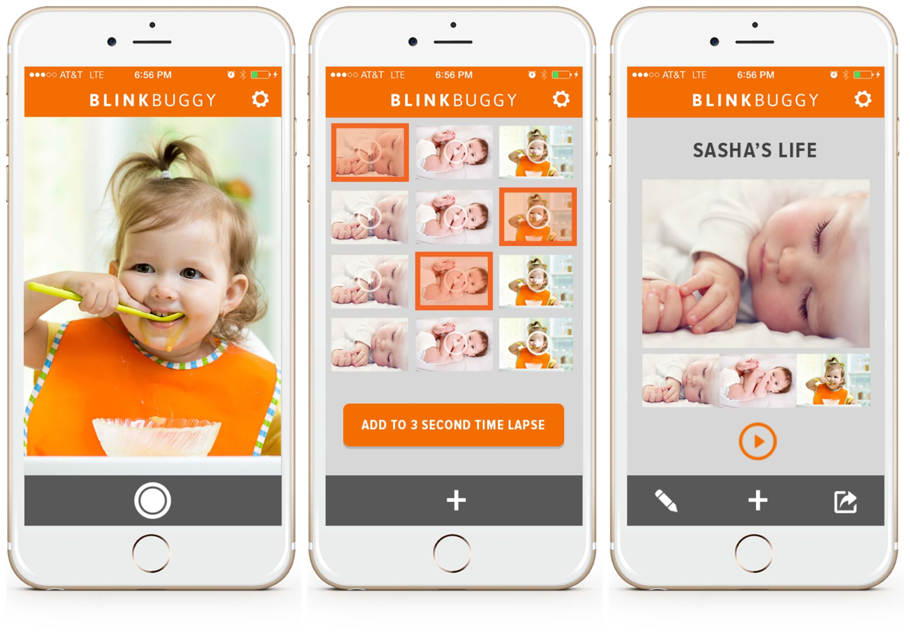 This free app creates a time lapse video of your child growing up!