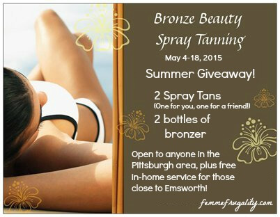 Enter to win a spray tanning package for you and a friend!  Looking good in #Pittsburgh without harmful UV rays.