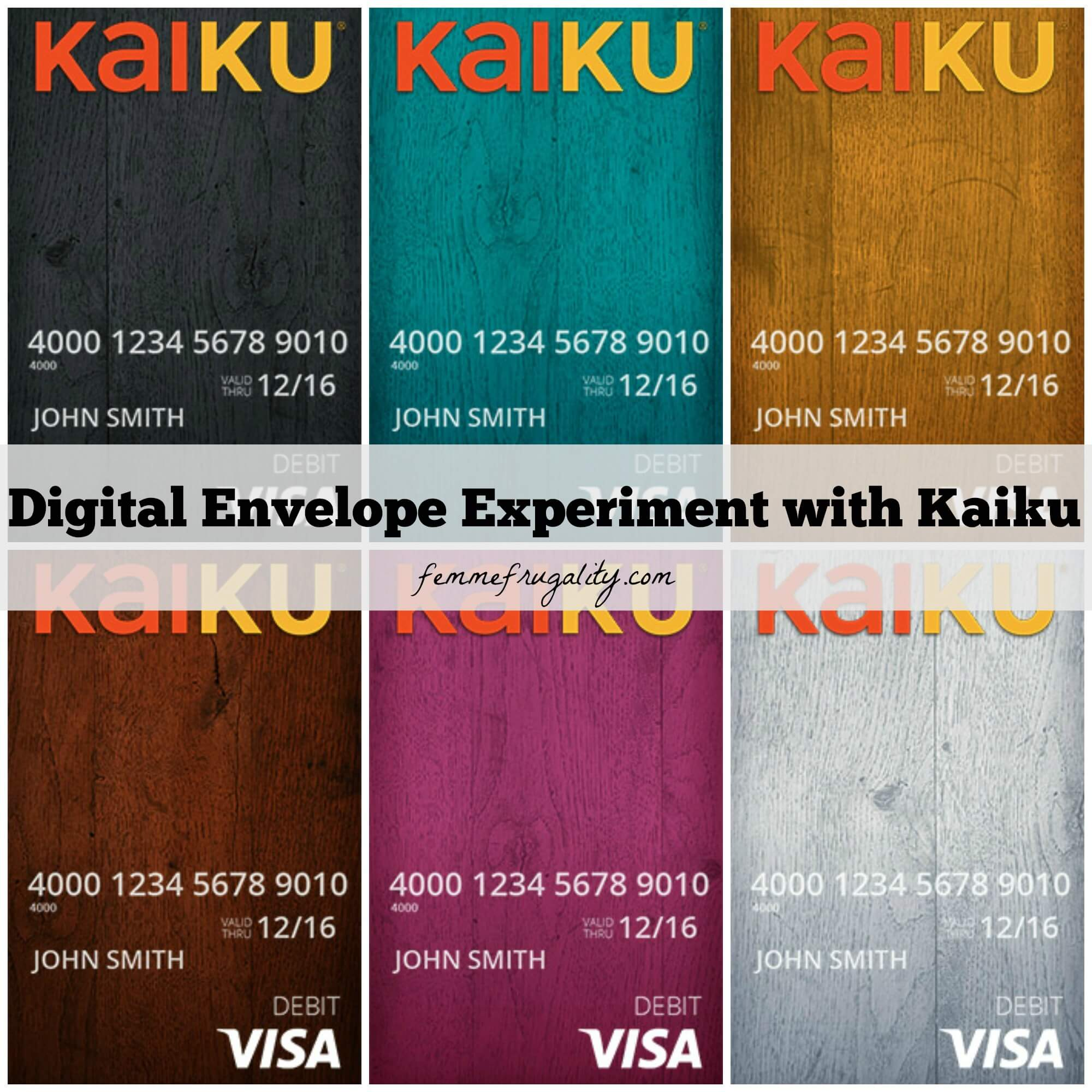 we created a digital envelope system for one month using kaiku did it help - Kaiku Visa Prepaid Card