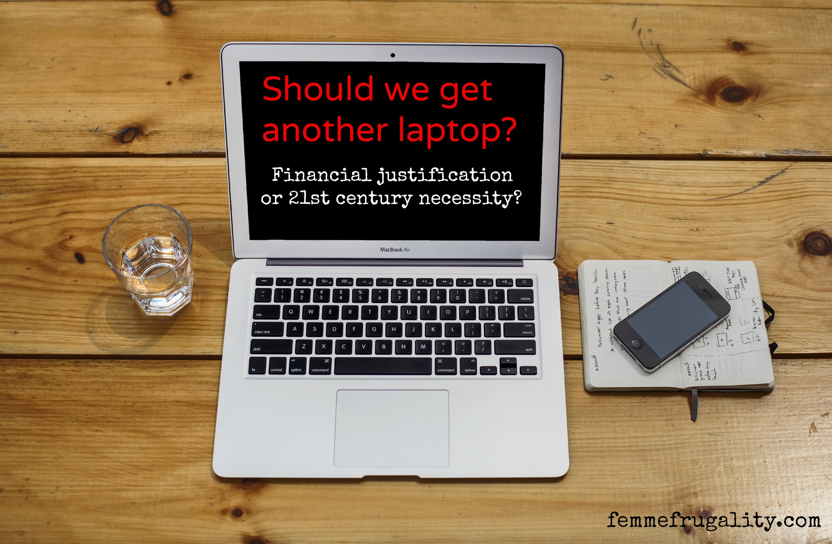 I think we need better time management. He thinks we need another computer. One option is free, the other costs hundreds. We need your opinion!