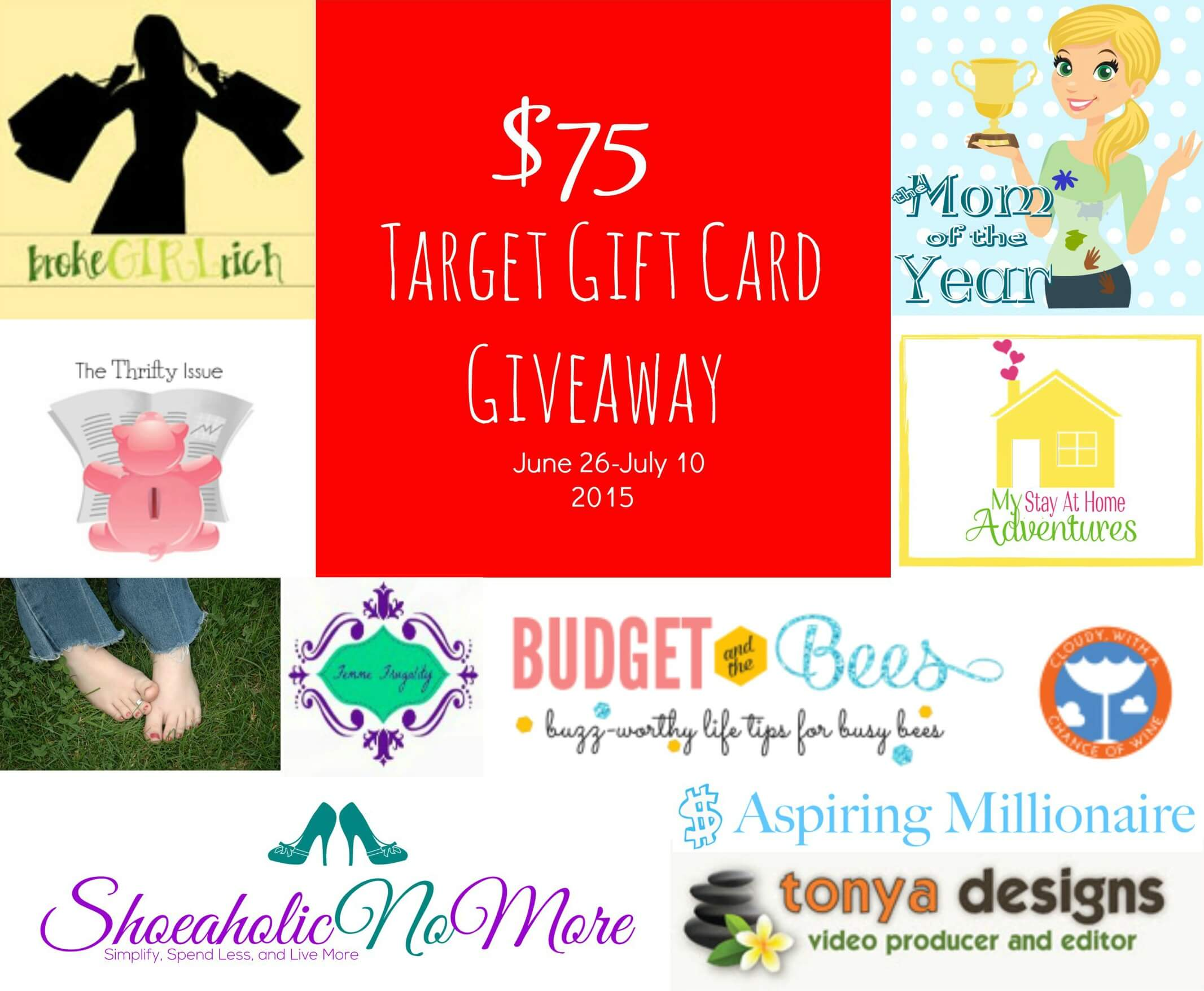 Win a $75 Target Gift Card to celebrate 4 Years of Blogging on Femme Frugality! #giveaway