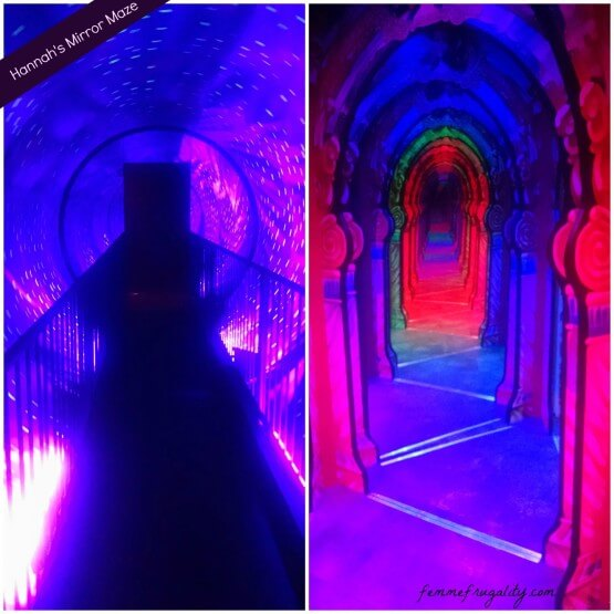The spinning tunnel, and the maze itself.  It looks like a straight hallway, but it's noooot!