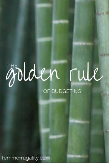 The Golden Rule of Budgeting