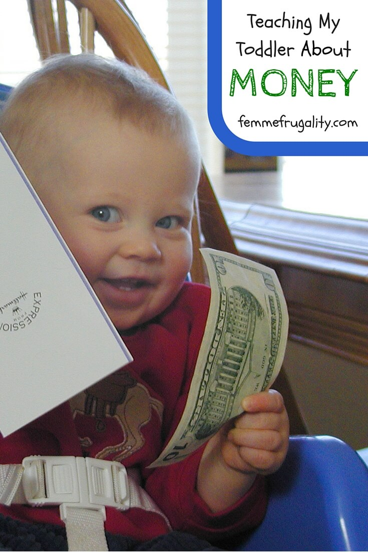 How I'm teaching my toddler about money. Start 'em young!