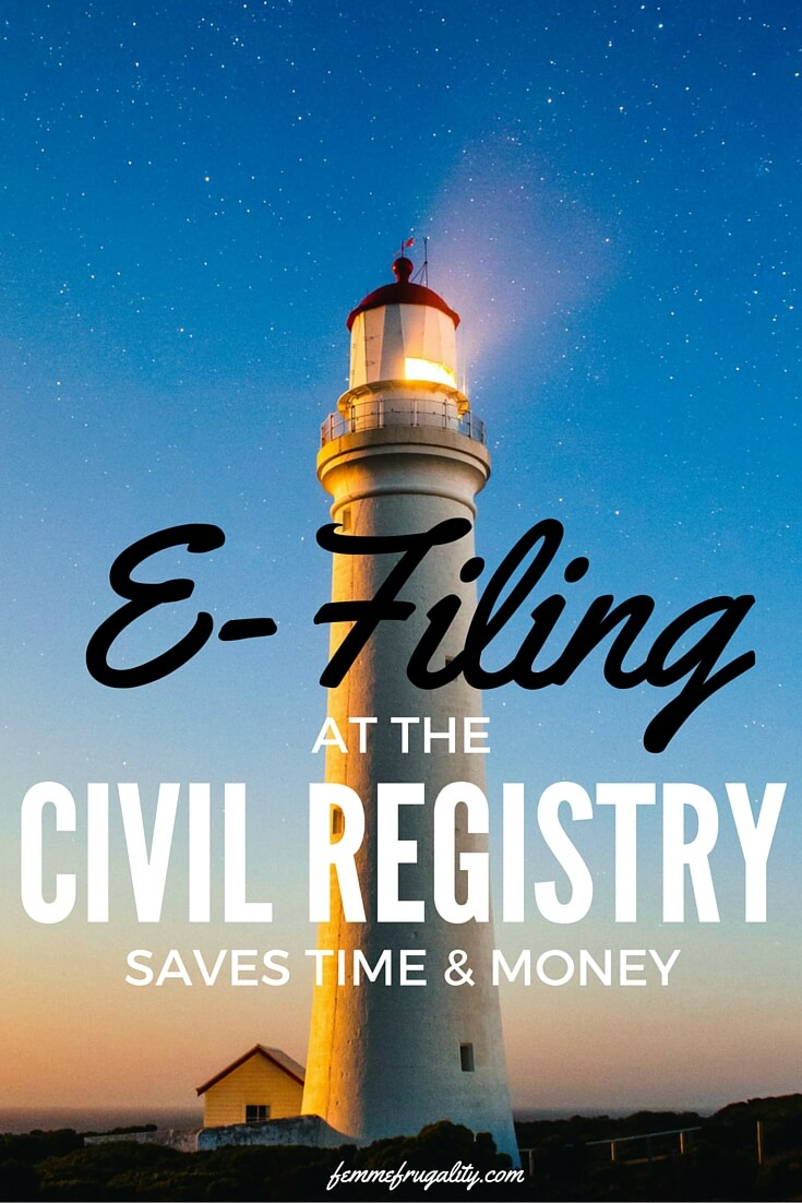 E-Filing at the Civil Registry saves Australians time and money.