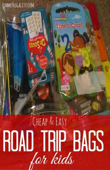 Cheap and Easy Road Trip Bags for Kids