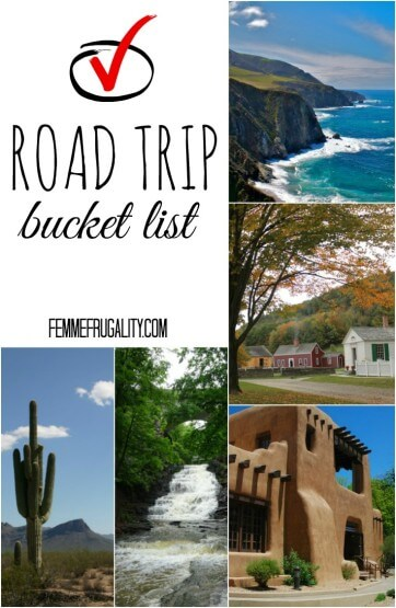 With gas prices as low as they are, you know I'm hitting the road. Check out my road trip bucket list.