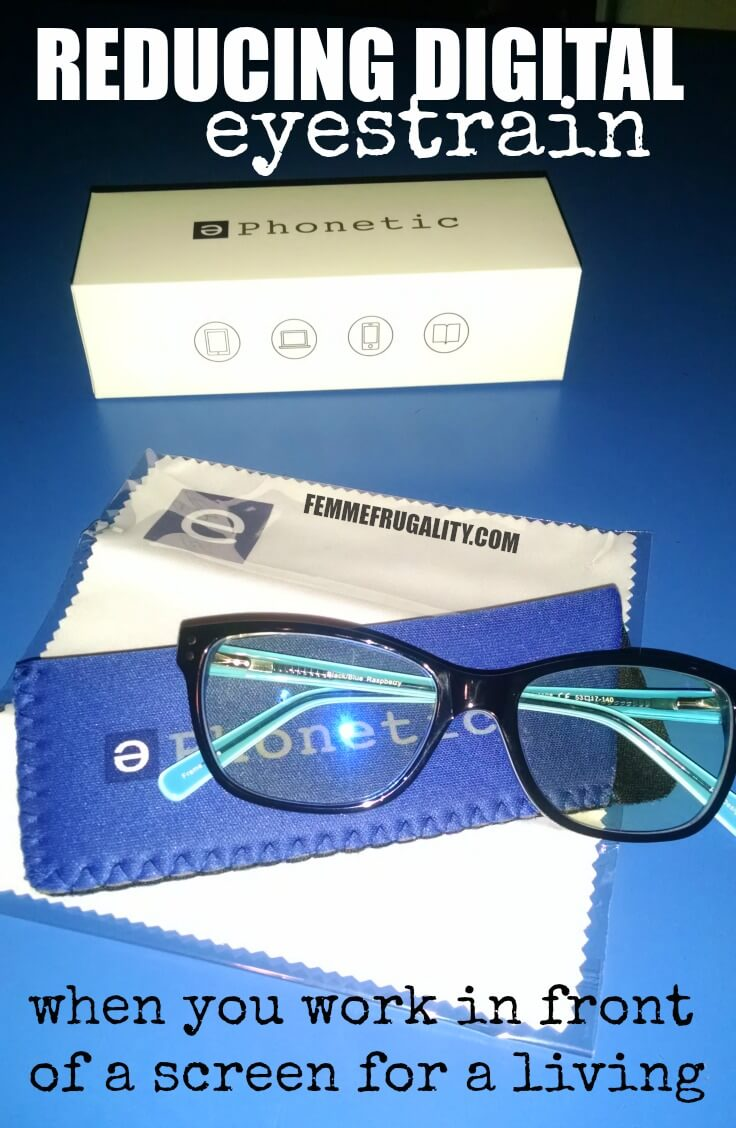 Must read for those that work in front of a screen all day! Protect yourself from blue light, which causes digital eyestrain symptoms. Plus save 10% on the glasses that will help.