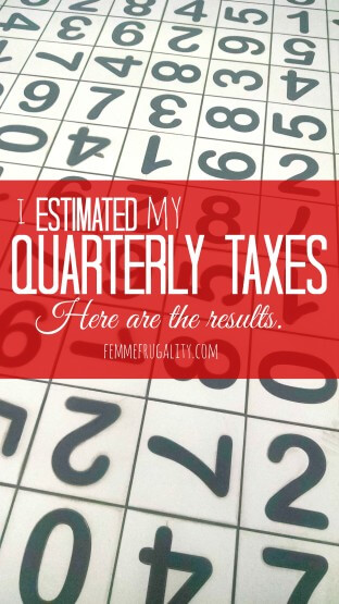 Figuring out your predicted income for your estimated quarterly taxes can be a guessing game. Click to see how I did for 2015, and what I plan to change for 2016.