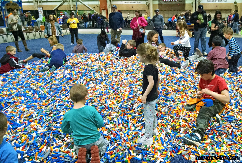 lego brick pile