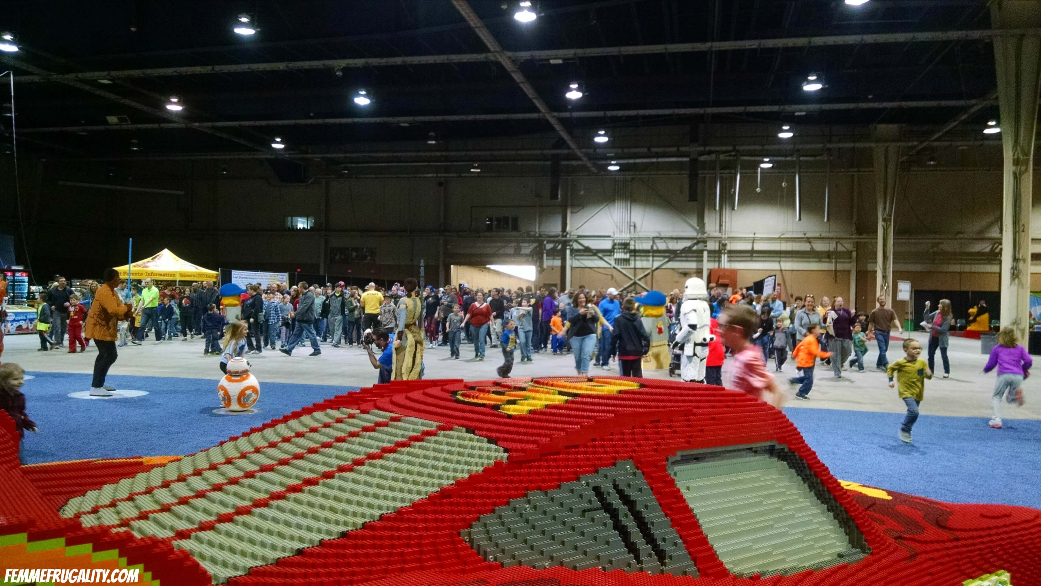 Kids going crazy as they enter LEGO Kidsfest PA.
