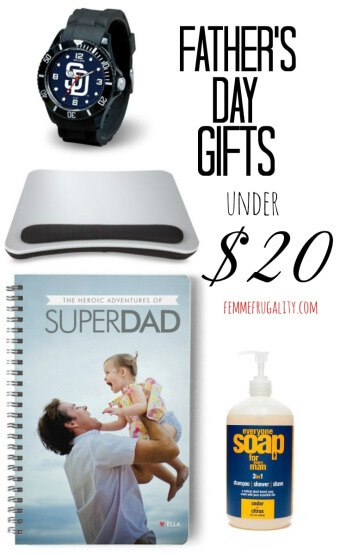On a budget, but still want to get dad something he'll love? Check out this Father's Day Gift Guide where everything is under $20.