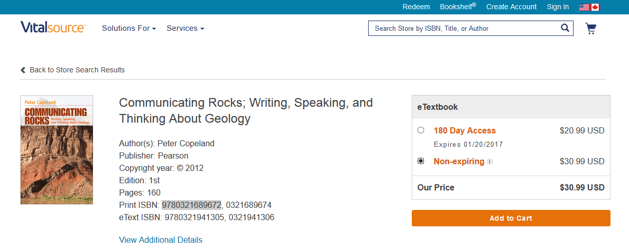 Many times, when you're buying career-specific textbooks that you want to keep, eTextbooks are the cheapest way to go.