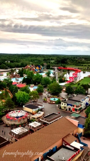 View from the top of the second largest Ferris Wheel in North America at Darien Lake, NY.
