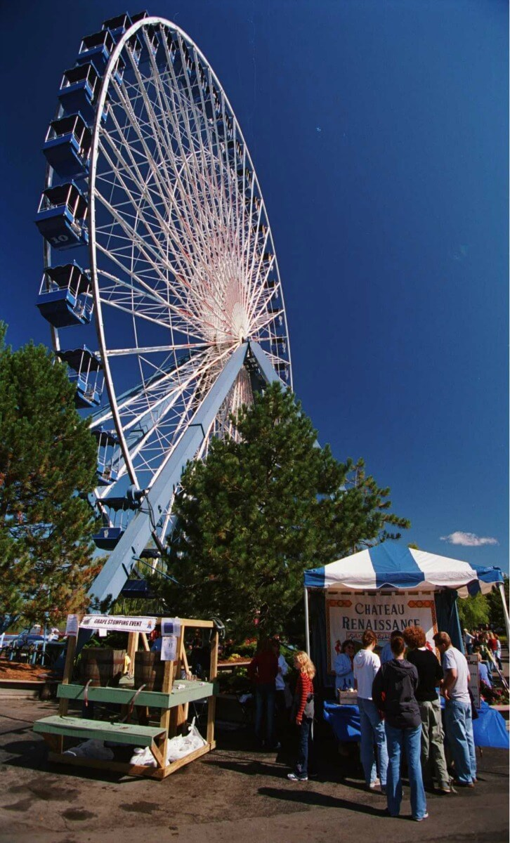 Second largest Ferris wheel in North America at Darien Lake, NY.