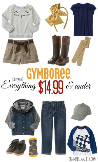 Save On Back To School Clothes With Gymboree Femme Frugality
