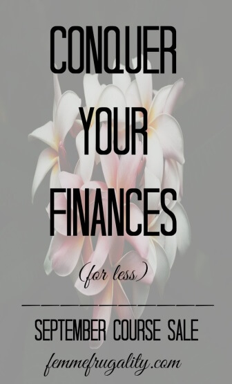 This Conquer Your Finances course looks awesome! Totally doing it this month while it's on mega sale.