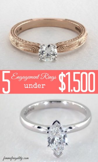 5 Engagement Rings Under $1 500