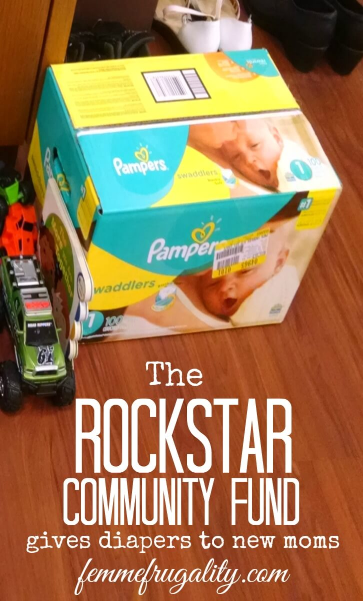 This is so cool! The Rockstar Community Fund gave diapers to new moms in Pittsburgh---want to join so I can bring this to my own community next month!