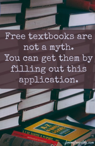 Erm, did someone say free textbooks? Doing this next semester.