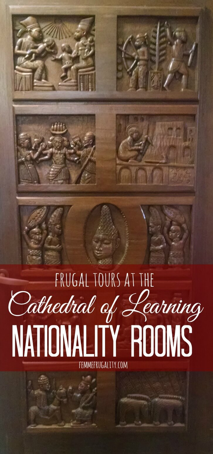 So cool that this exists! Frugal tours at Cathedral of Learning Nationality Rooms in Pittsburgh