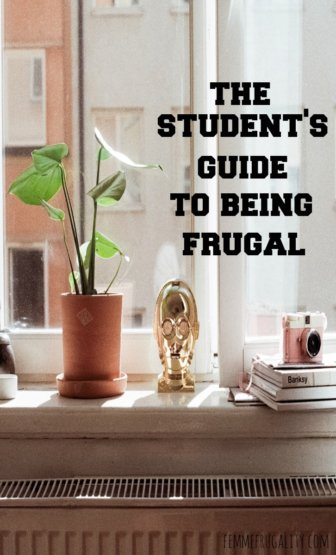 Great for college students. The Student's Guide to Being Frugal.