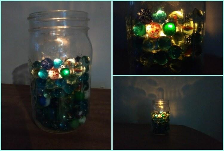 frugal marble mason jar centerpieces