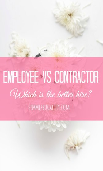 Definitely had this question when my small business started to grow--should I hire an employee or a contractor?