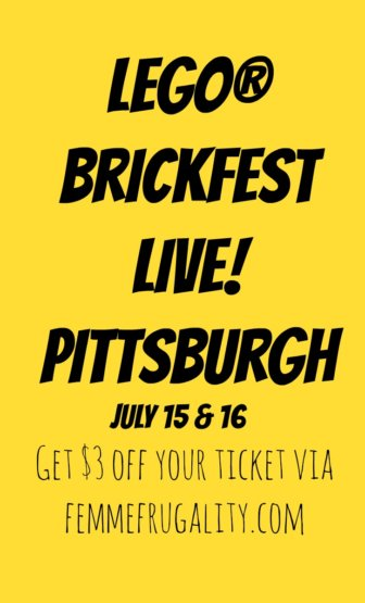 Nice! Promo code to save on LEGO Brickfest Live! tickets in Pittsburgh.