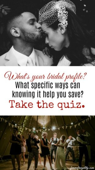 I got nontraditional bride which sounds about right. Great, unique savings tips for your wedding!