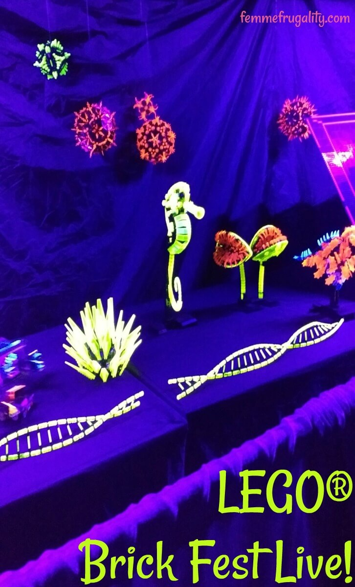 This looks so cool! Glow-in-the-dark legos at LEGO Brick Fest Live!