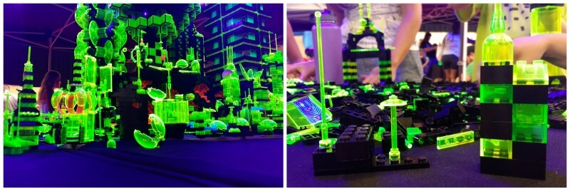 These LEGOs glow under blacklights.